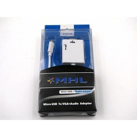 Adapter micro USB do VGA + audio