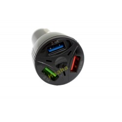 Ładowarka Samochodowa 3xUSB Quick Charge 3.0 YSY-395-KC