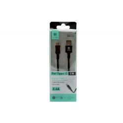 Kabel USB Typ C Nylonowy Oplot WB1164