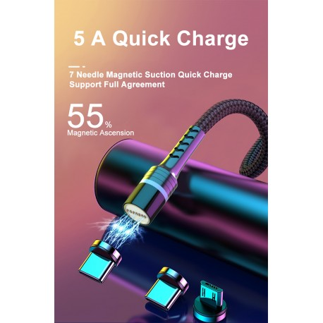 Kabel Magnetyczny 5A Quick Charge 2m