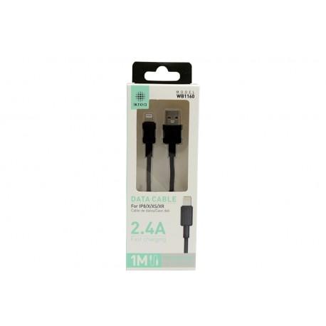 Kabel USB Lightning 1m 2.4A WB1160