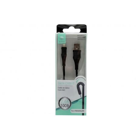 Kabel USB do iPhone Lightning WB1150 SUPER ELASTYCZNY
